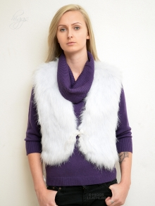 Higgs Leathers ONE ONLY HALF PRICE!  Faros (ladies Faux Fox gilet)